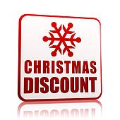 christmas discount white banner with snowflake symbol