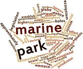 Word cloud for Marine park