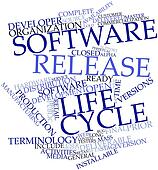 Word cloud for Software release life cycle