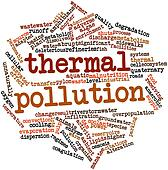 Word cloud for Thermal pollution