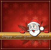 Christmas Santa Claus. Greeting card