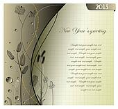 2013 Happy New Year gray greeting c