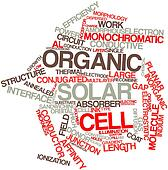 Word cloud for Organic solar cell