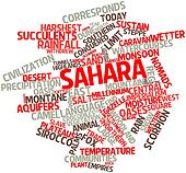 Word cloud for Sahara