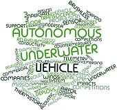 Word cloud for Autonomous underwater vehicle