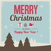 greeting card, merry christmas and