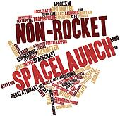 Word cloud for Non-rocket spacelaunch