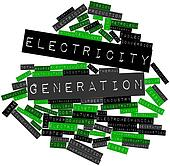 Word cloud for Electricity generation