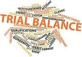 Word cloud for Trial balance