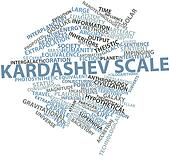 Word cloud for Kardashev scale