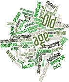 Word cloud for Old age