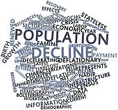 Word cloud for Population decline