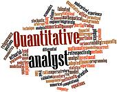 Word cloud for Quantitative analyst