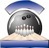 Bowling Design Template Lane