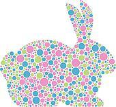 Bunny Rabbit in Pastel Polka Dots