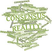 Word cloud for Consensus reality