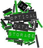 Word cloud for 3D optical data storage