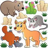 Australian wildlife fauna set 1