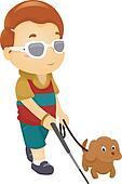 Blind Boy with Dog