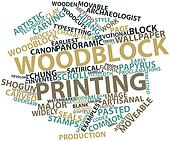 Word cloud for Woodblock printing