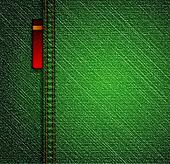 Detailed green jeans texture. Vector