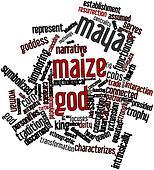 Word cloud for Maya maize god