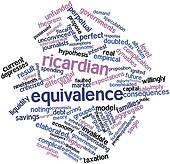Word cloud for Ricardian equivalence