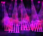 Violet Laser Stage Background