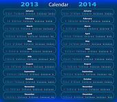 Calendar 2013 - 2014