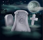 Euro grave concept