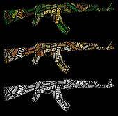 AK47 rifle graphics