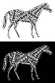 Race horse graphic