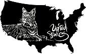 Bobcat and U.S. outline map