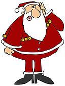 Hard of hearing Santa