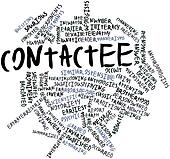 Word cloud for Contactee