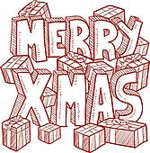 Merry Christmas message vector