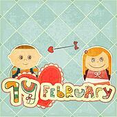 Vintage Design Valentines Day Card