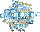 Word cloud for Communications Decency Act