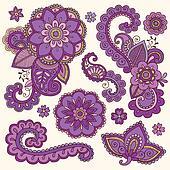 Henna Doodle Mehndi Tattoo Set