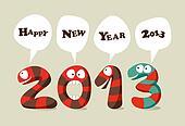 Happy New Year cartoon card