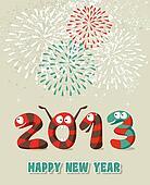 Cartoon Happy New Year confetti