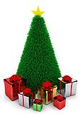 Shiny presents & Christmas tree