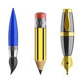 pen pencil paintbrush