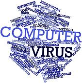 Word cloud for Computer virus