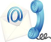 Contact email symbol