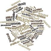 Word cloud for Image spam