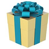 Christmas Present (box) with Bow
