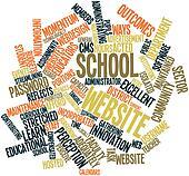 Word cloud for School website