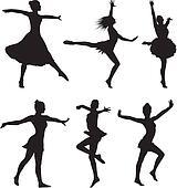 dance silhouette - woman