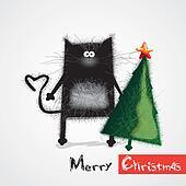 cat congratulates happy New Year an
